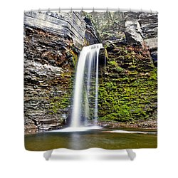 Eagle Cliff Falls Shower Curtain by Frozen in Time Fine Art Photography
