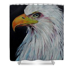 Eagle Eye Shower Curtain by Jeanne Fischer
