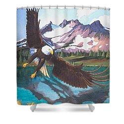 Eagle Oregon Lake Shower Curtain