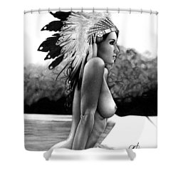 Eagle Shower Curtain by Pete Tapang