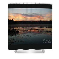 Shower Curtain featuring the photograph Eagle River Sunrise No.5 by PJ Boylan