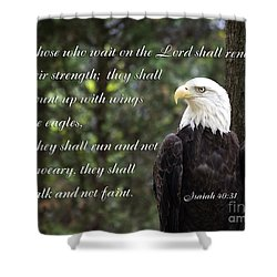 Eagle Scripture Isaiah Shower Curtain
