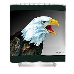 Da109 Eagle's Cry By Daniel Adams Shower Curtain
