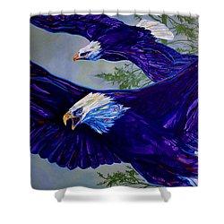 Eagles  Shower Curtain by Derrick Higgins
