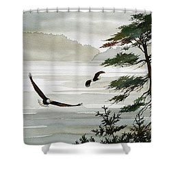 Eagles Eden Shower Curtain by James Williamson