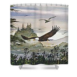 Eagles Majestic Flight Shower Curtain by James Williamson