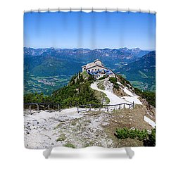 Eagle's Nest Shower Curtain by Dave Bowman