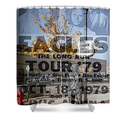 Eagles The Long Run Tour Shower Curtain