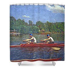 Eakins' The Biglin Brothers Racing Shower Curtain by Cora Wandel
