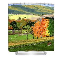 Early Autumn At Bear Meadows Farm Shower Curtain