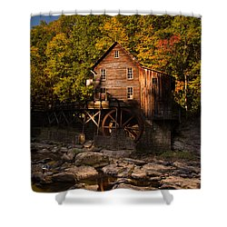 Early Autumn At Glade Creek Grist Mill Shower Curtain