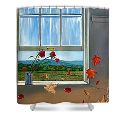 Early Autumn Breeze Shower Curtain by Christopher Shellhammer