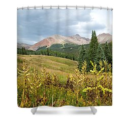 Shower Curtain featuring the photograph Early Autumn In The San Juans -  Mount Wilson And Wilson Peak by Cascade Colors