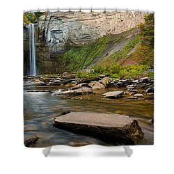 Early Autumn Morning At Taughannock Falls Shower Curtain