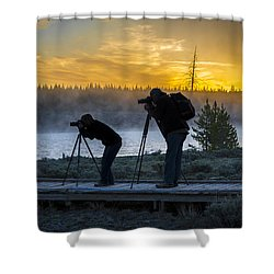 Early Birds Yellowstone National Park Shower Curtain