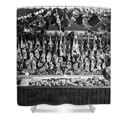 Early Butcher Shop Shower Curtain by Underwood Archives