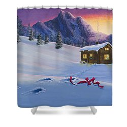 Early Christmas Morn Shower Curtain