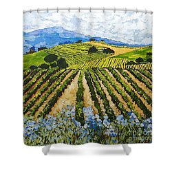 Early Crop Shower Curtain by Allan P Friedlander
