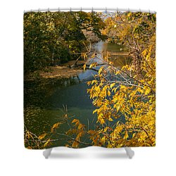 Early Fall On The Navasota Shower Curtain