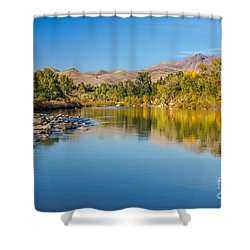 Early Fall On The Payette Shower Curtain by Robert Bales