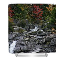 Shower Curtain featuring the photograph Early Fall Waterfall by Denyse Duhaime