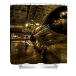 Early Jet Fighter Shower Curtain by David Dufresne
