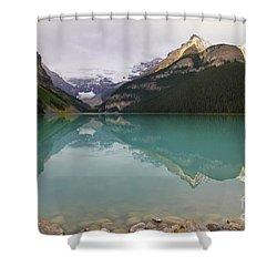 Early Morning At Lake Louise Shower Curtain by Teresa Zieba