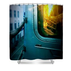 Early Morning Commute Shower Curtain by James Aiken