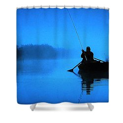 Early Morning Fishing  Shower Curtain by Colette V Hera  Guggenheim
