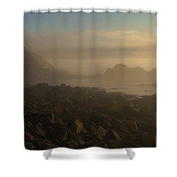 Early Morning Fog At Quoddy Shower Curtain