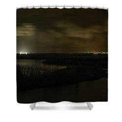 Early Morning Over Lake Shelby Shower Curtain by Michael Thomas