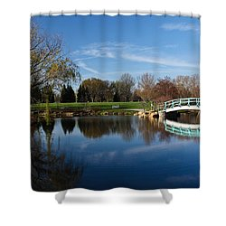 Early Morning Retreat Shower Curtain by Julie Andel