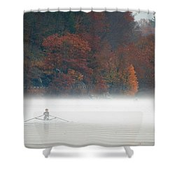 Early Morning Row Shower Curtain by Karol Livote