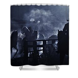 Early Morning Smoke Shower Curtain