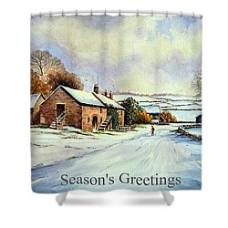 Early Morning Snow Christmas Cards Shower Curtain by Andrew Read