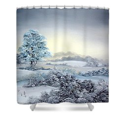 Early Morning Snows Shower Curtain