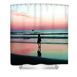 Early Morning Stroll Shower Curtain by Dan Stone