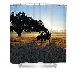 Early Morning Training Run Shower Curtain