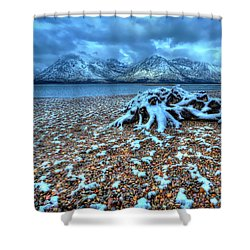 Early Snow On The Tetons Shower Curtain