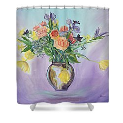 Early Spring Bouquet Shower Curtain