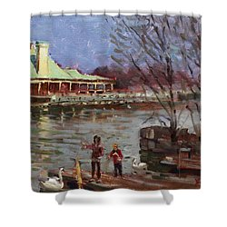 Early Spring In Portcredit Mississauga Shower Curtain