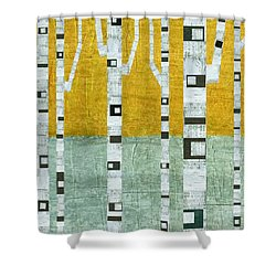 Early Winter Birches Shower Curtain