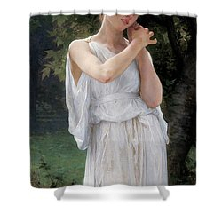 Earrings Shower Curtain by William Adolphe Bouguereau