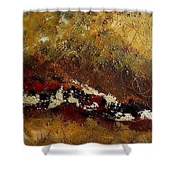 Shower Curtain featuring the painting Earth Abstract Four by Lance Headlee