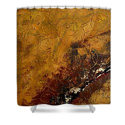 Shower Curtain featuring the painting Earth Abstract Two by Lance Headlee