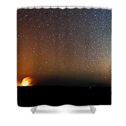 Earth And Cosmos Shower Curtain