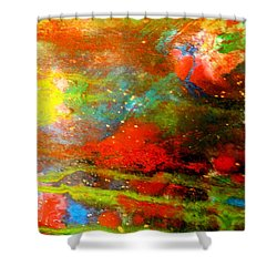 Earth And Sky Abstract Shower Curtain