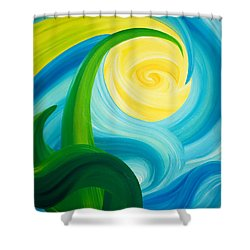 Earth And Sky Meet Shower Curtain