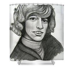 Robin Gibb Shower Curtain by Patrice Torrillo