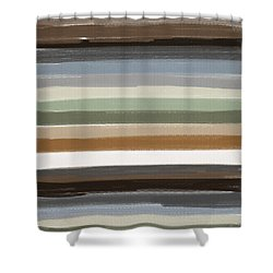 Earth Colors Shower Curtain by Lourry Legarde